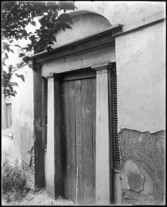 Baltimore, Maryland, 327 Saint Paul Street, exterior detail, door, stable, rear, unknown house