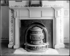 Baltimore Maryland, 100 East Pleasant Street, interior detail, mantel, James E. Wilson house