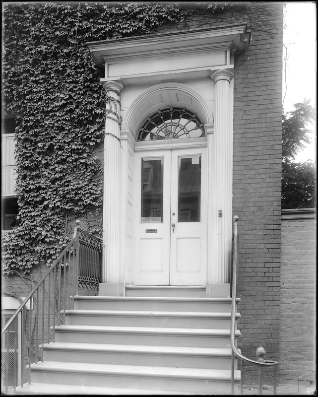 Baltimore, Maryland, 15 East Pleasant Street, exterior detail, front door, unknown building