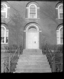 Portsmouth, New Hampshire, 180 Middle Street, exterior detail, door, Larkin-Richter house