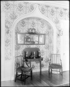 Portsmouth, New Hampshire, 180 Middle Street, interior detail, alcove, reception room, Larkin, Richter house