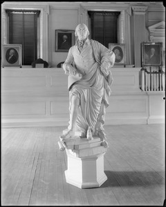 Monuments, statue of Washington, carved from one block of wood by Colonel William Rush