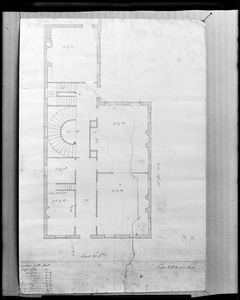 Salem, 204-206 Essex Street, maps and plans, floor plan by McIntire for Ezekiel Hersey Derby house