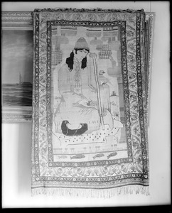 Objects, furniture, Persian temple rug, presented to Essex Institute in 1910 by E. M. Raymond