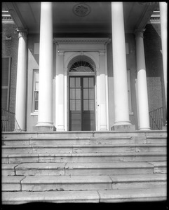 Baltimore, Maryland, Charles Carroll estate, exterior detail, porch