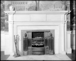 Salem, 142 Federal Street, interior detail, parlor, mantel, Samuel Cook house, 1804