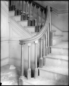 Beverly, 115 Cabot Street, George Cabot house, interior detail, newel
