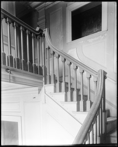Beverly, 115 Cabot Street, George Cabot house, interior detail, stairway