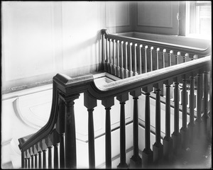 Beverly, 115 Cabot Street, George Cabot house, interior detail, balustrade
