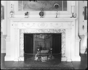 Salem, 138 Federal Street, Assembly House, interior detail, mantel, east parlor