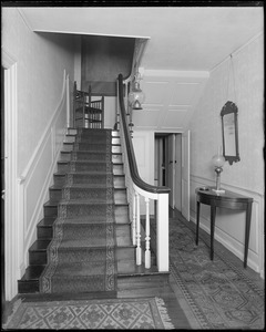 North Andover, Phillips house, hall and stairway