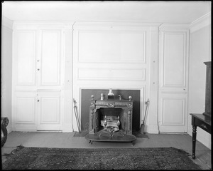 North Andover, Phillips house, interior detail, panelling and mantel