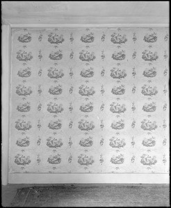 North Andover, Phillips house, interior detail, wallpaper, 1835