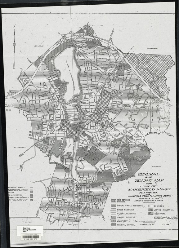 General and zoning map for town of Wakefield Mass.
