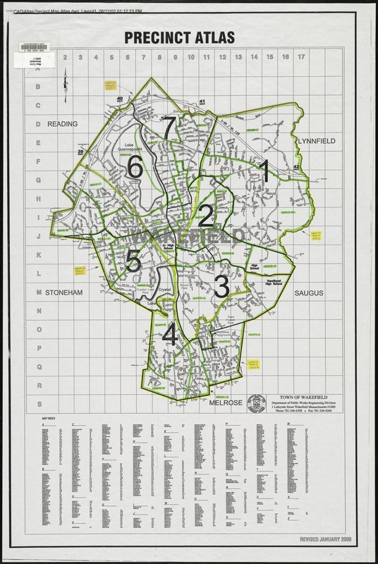 Precinct atlas, Town of Wakefield