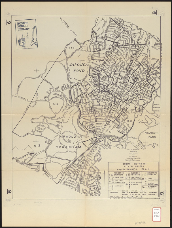 Zoning districts city of Boston map 9 Jamaica Plain