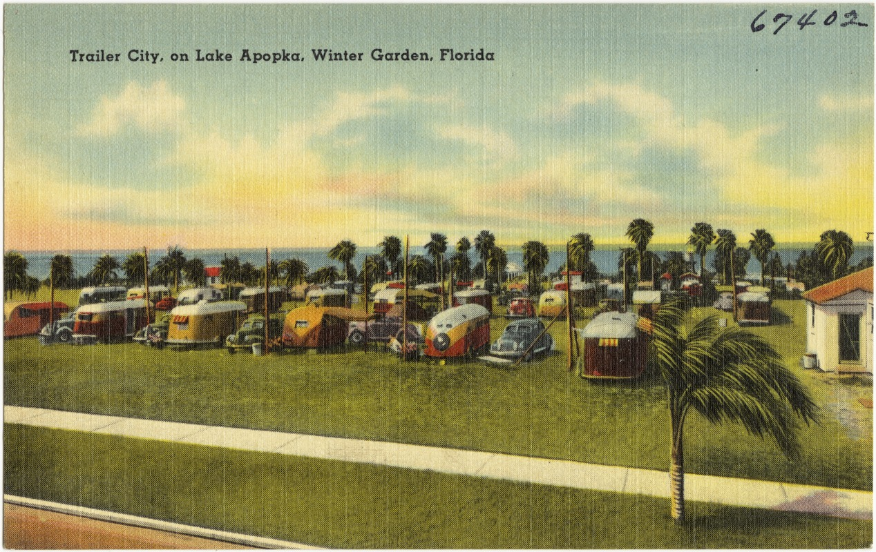 trailer city on lake apopka winter garden florida digital