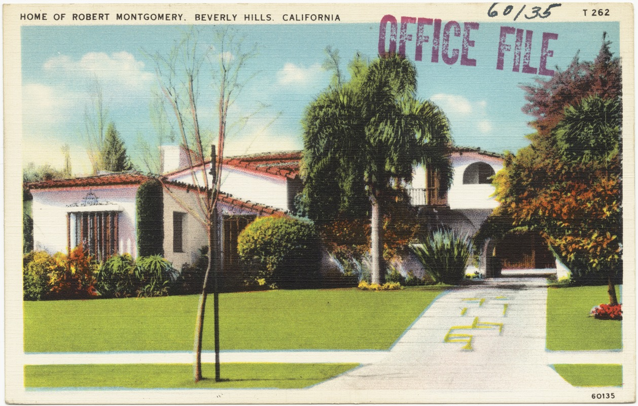 George Burns Home Sold - Home of robert montgomery beverly hills california