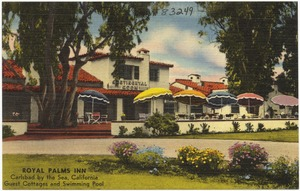 Royal Palms Inn, Carlsbad by the Sea, California. Guest Cottages and Swimming Pool