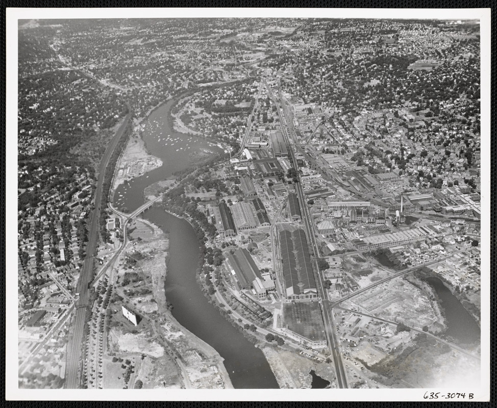 Aerial view of Watertown Arsenal