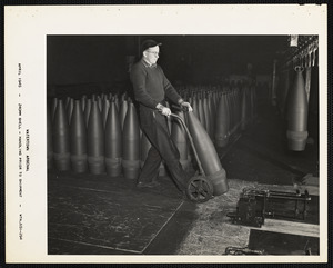 240 MM shell, handling prior to shipment