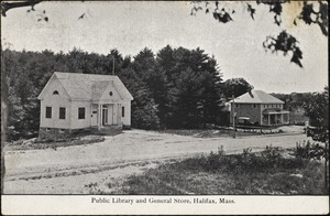 Public library and general store, Halifax, Mass.
