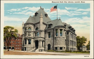 Memorial Hall, city library, Lowell, Mass.