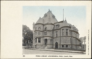 Public library and Memorial Hall, Lowell, Mass.
