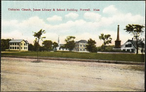 Unitarian Church, James Library & School building. Norwell, Mass.