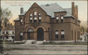 Memorial Hall and library, Palmer, Mass.
