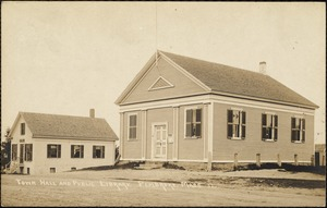 Town hall and public library, Pembroke, Mass.