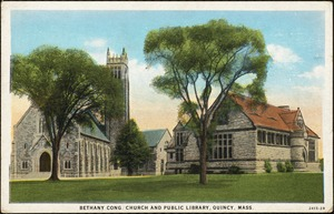 Bethany Cong. Church and public library, Quincy, Mass.