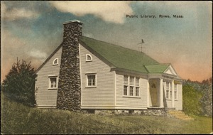 Public library, Rowe, Mass.