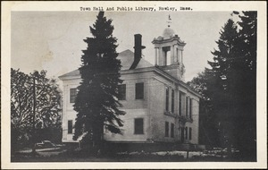 Town hall and public library, Rowley, Mass.