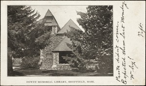 Dewey Memorial Library, Sheffield, Mass.