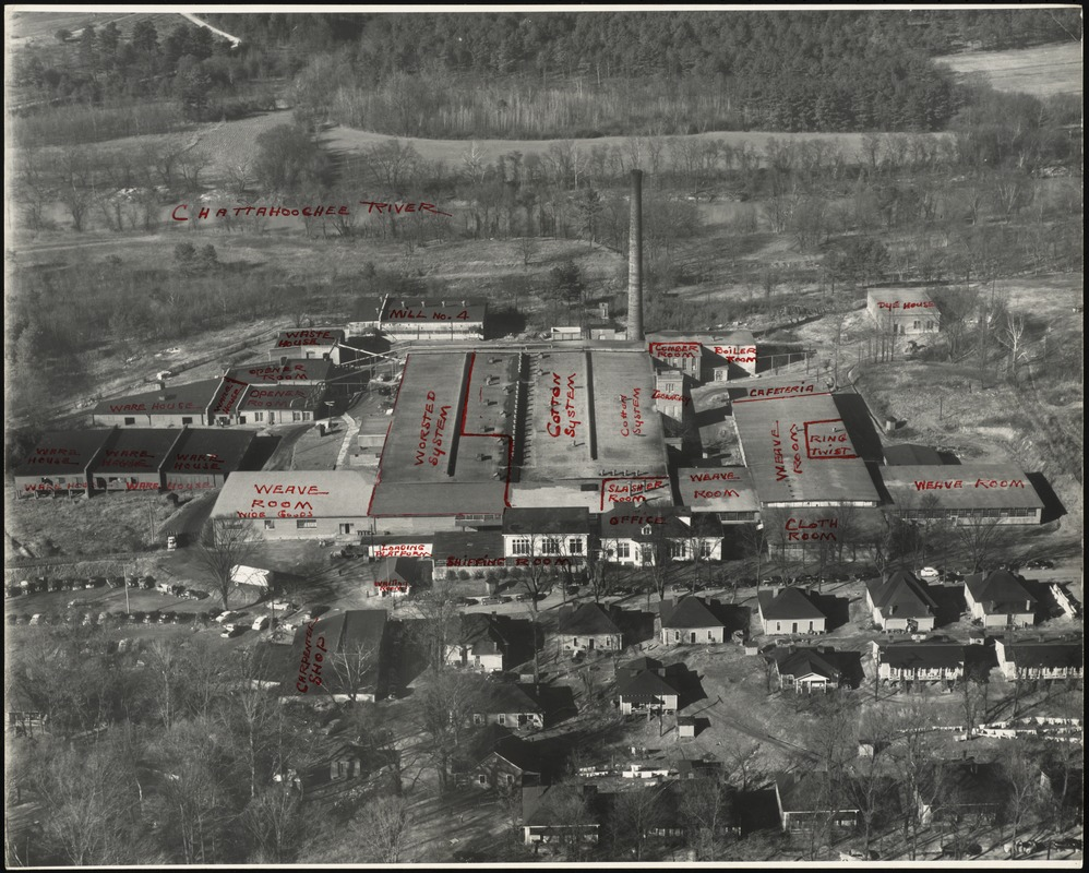 Aerial view of the Whittier Mills, Chattahoochee, Georgia [graphic]