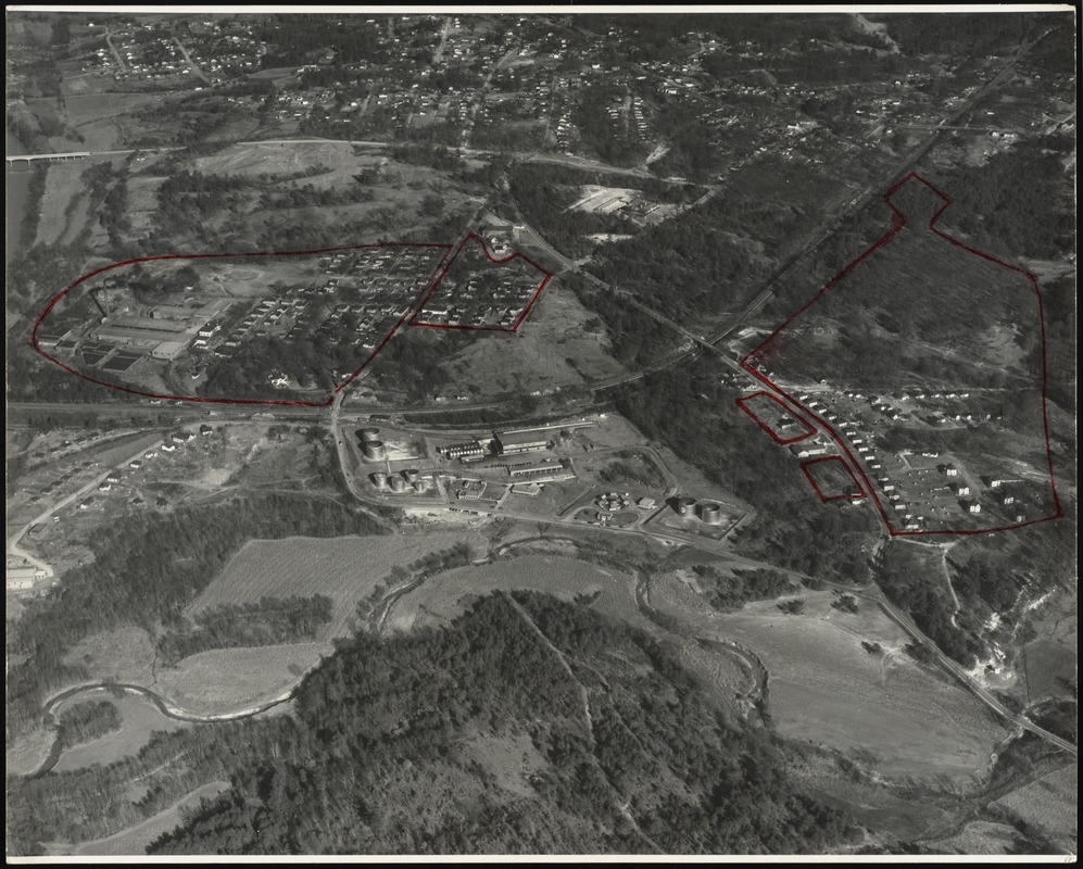 Aerial view of the Whittier Mills and surrounding countryside, Chattahoochee, Georgia [graphic]