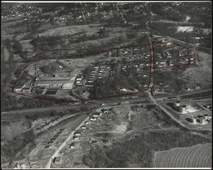 Aerial view of the Whittier Mills plant and surrounding housing, Chattahoochee, Georgia [graphic]
