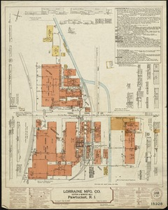 Lorraine Mfg. Co. (Cotton & Worsted Mill), Pawtucket, R.I. [insurance map]