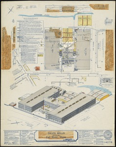 Davis Mills (Cotton Mill), Fall River, Mass. [insurance map]