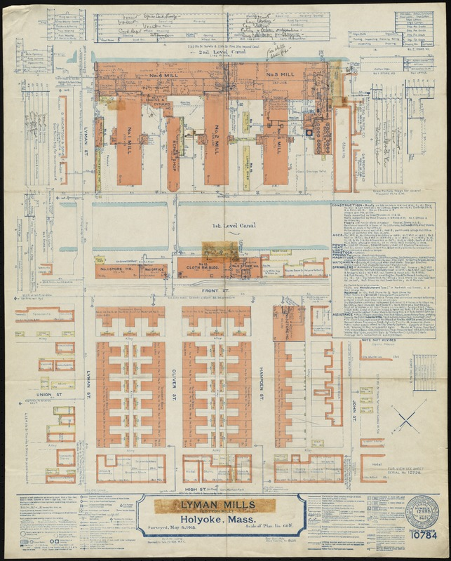 Lyman Mills (Cotton Mill), Holyoke, Mass. [insurance map]