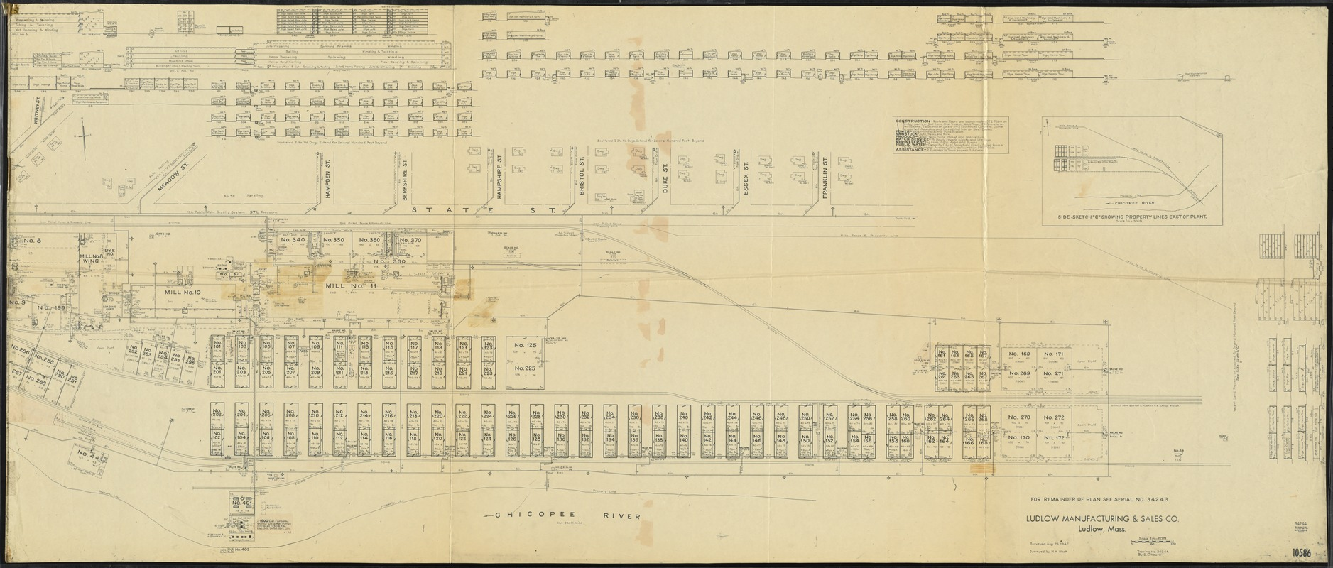 Ludlow Manufacturing & Sales Co., Ludlow, Mass. [insurance map]
