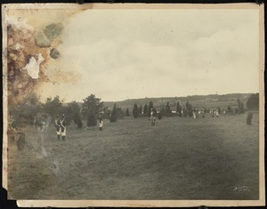 Scene from the Pageant of Cape Cod, held on the banks of the Cape Cod Canal