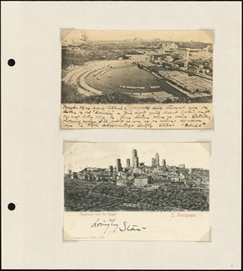 Albums of postcards from Europe sent by William Stanley Parker to relatives in Boston