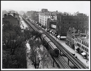 Washington Street Elevated from Franklin Square