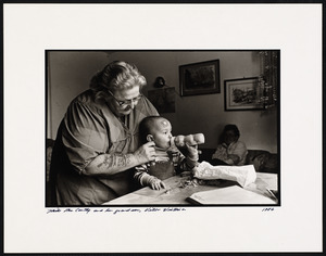 Mike McCarthy and her grandson, Villa Victoria