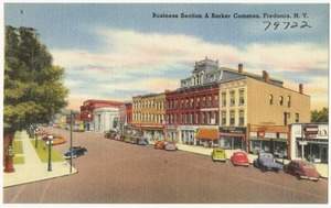 Business section & Barker Common, Fredonia, N. Y.