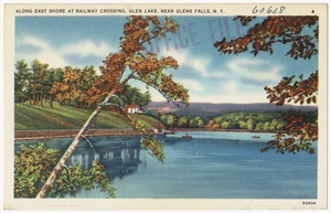 Along east shore at railway crossing, Glen Lake, near Glens Falls, N. Y.