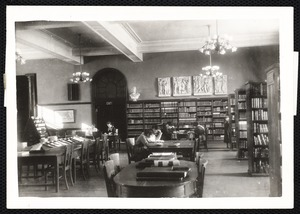 First library in Normal (Thompson) Hall.