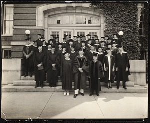 Summer school 1936 faculty and teachers who completed credit for B.S. in education.